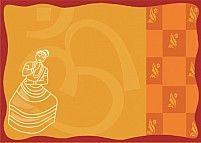 Illustration Of Mohiniyattam On The Background Of Divine Om