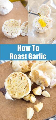 How To Roast Garlic - take almost any dish to the next level with this super simple way to roast garlic. Fun Easy Recipes, Top Recipes, Easy Meals, Amazing Recipes, Delicious Recipes, Yummy Appetizers, Appetizer Recipes, Dinner Recipes, Food Hacks