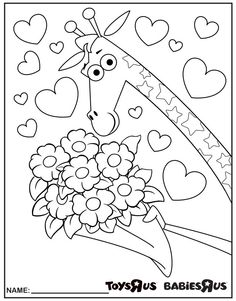 Valentine's Day Activity: A beautiful bouquet for you (to color in)!