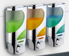 HotelSpaWave Luxury Soap/Shampoo/Lotion Modular-Design Shower Dispenser System (Pack of Motion Wallpapers, Cute Curtains, Soap On A Rope, Modular Walls, Luxury Soap, Soap Scum, Soap Dispensers, Shower Cleaner, Modular Design