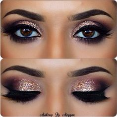 Love these eyes, dramatic and glittery