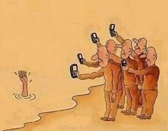 People Nowadays funny jokes lol funny quote funny quotes funny sayings humor funny pictures phones Comic Foto, Bystander Effect, Pictures With Deep Meaning, Songs With Deep Meaning, Deep Images, Art With Meaning, Social Media Humor, Social Networks, Satirical Illustrations
