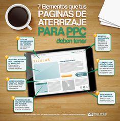 7 elementos para una Landing Page para PPC #infografia #infographic #marketing