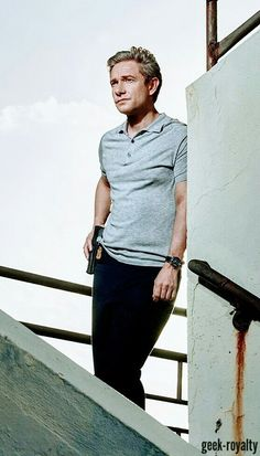 """geek-royalty: """"A promo outtake of Phil Rask (Martin Freeman) in Startup S1 (source) """""""
