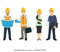 Civil engineer, architect and construction workers characters group. Engineer Cartoon, Character Group, Construction Worker, Illustrations, Civil Engineering, Photos, Audio Engineer, Worker Bee, Architecture