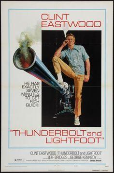 Thunderbolt & Lightfoot 1 sheet movie poster. style C. Clint Eastwood. Art by Robert McGinnis