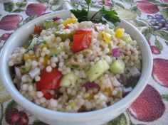 This is suppose to be very similar to the Couscous Salad at Jason's Deli!!!  Israeli Couscous Salad from Food.com: A combination of several favorite recipes all in one! Israeli coucous is larger than regular coucous and can be found in the kosher section of the grocery store.
