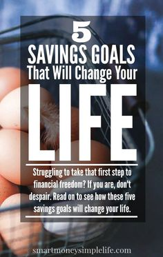 Struggling to take that first step to financial freedom? If you are, don't despair. Read on to see how these five savings goals will change your life.  The big question most of us struggle with is this:  Which should you do first; save for the future or pay for the past? #SavingMoney #DebtRepayment #FrugalLivingTips - Smart Money, Simple Life
