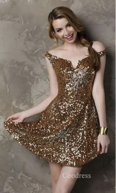 Fashion V-neck Natural Lace Sleeveless Baby doll Prom Dresses coodress13039