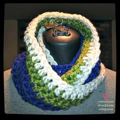 Seattle Seahawks Inspired Infinity Scarf by peacelovecreations, $30.00