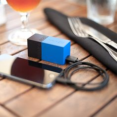 Bolt Two things you always need packed into one, small portable product. Sound good? The Bolt is a combination wall charger and backup power supply for your phone and other USB-powered devices. Fold-out prongs and a juicy 3000mAh Li-Ion battery keep it compact and long-lasting. $60