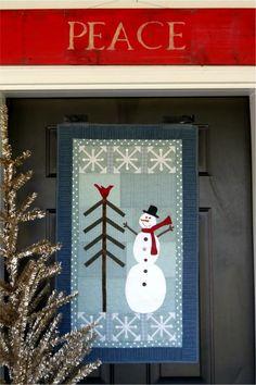 Primitive Folk Art Quilt Pattern - Winter Wonderland Quilt Pattern