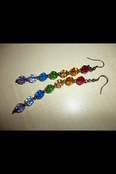 Colorful Swarovski earrings by dodimatto on Etsy