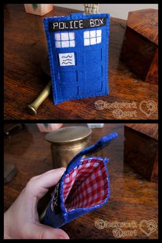 Tardis - Felt Cell Phone Case by ~ClockworkHeartComple on deviantART