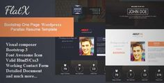Download and review of FlatX - Bootstrap Onepage Parallax Resume Template, one of the best Themeforest Magazine & Blogs themes