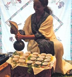 Traditional Ethiopian Coffee Ceremony Brewed Up by Chef Marcus Samuelsson and Cafe Colucci at SF Chefs. Post by Anna Mindess