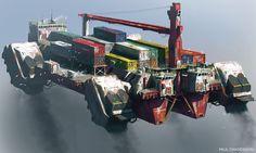 ArtStation - Flying Cargo , Paul Chadeisson