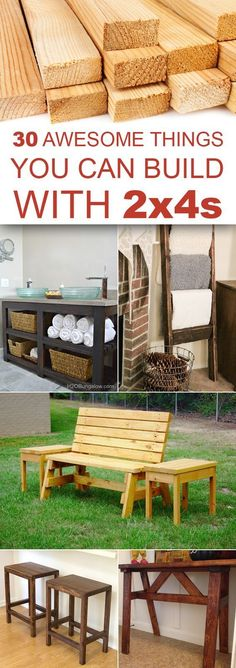 30 Awesome Things You Can Build With 2x4s #WoodworkingProjectsDiy