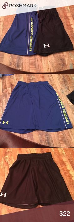 Boys Under Armour Shorts size small Boys Under Armour Shorts size small. Both are in excellent condition! Under Armour Bottoms Shorts