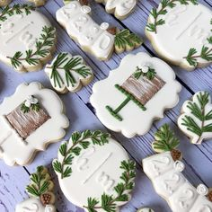 Ginger Cookies, Iced Cookies, Royal Icing Cookies, Sugar Cookies, Wedding Shower Cookies, Wedding Cake Cookies, Birthday Cookies, Bridal Shower, Christmas Candy Bar