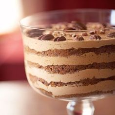 Pecan Pumpkin Butter Trifle - a rich, creamy trifle that showcases two of Americas favorite flavors: pumpkin and pecan.
