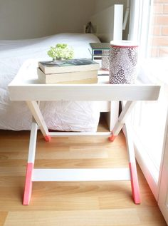 BEFORE & AFTER: TWO DIP-DYED SIDE TABLE REDOS