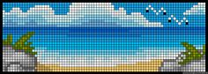 Ocean pattern /  Micro macrame / alpha friendship bracelet pattern / cross stitch chart - can also be used for crochet, knitting, knotting, beading, weaving, pixel art, and other crafting projects.