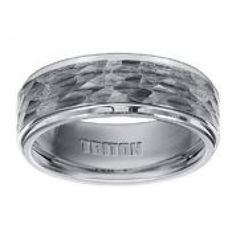 Hoppe Jewelers - WTC 8MM HAMMERED CTR/POLI STAIR STEP EDGE CF WED BAND, $299.0 (http://www.hoppejewelers.com/wtc-8mm-hammered-ctr-poli-stair-step-edge-cf-wed-band/)
