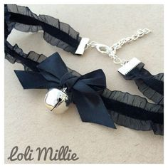 Kitty bell spike black faux leather collar, choker, necklace. Cosplay... ❤ liked on Polyvore