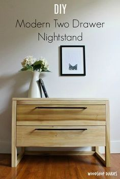 How to Build a DIY Modern Nightstand with Two Large Storage Drawers