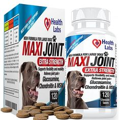 Glucosamine Chondroitin for Dogs Chewable with MSM - Extra Strength - Nutritional Supplements for Dogs - Best Dog Support Hip