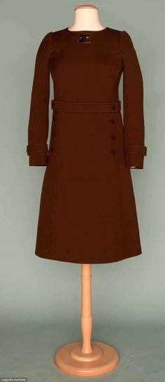BROWN COURREGES DRESS, 1960s