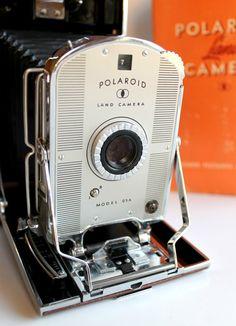 Vintage 1950's Polaroid Land Camera Model 95A. Gorgeous...