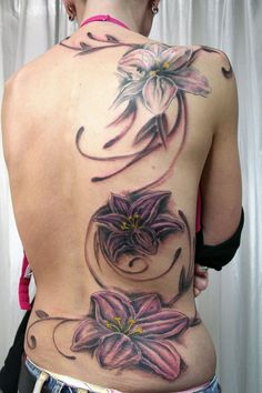 Full Back Flower Tattoo Design ~ http://tattooeve.com/flower-tattoo/ Tattoo Design