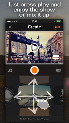 FrameBlast app - video creation & editing. can save to camera library
