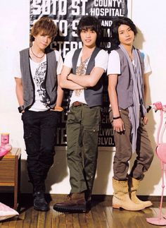 Kis-My-Ft2 Kento Senga, Wataru Yokoo and Takashi Nikaido