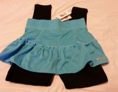Fila Girls Skegging Pants Sz M 10-12 Blue Black