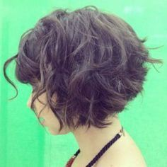 short curly stacked bob - Google Search
