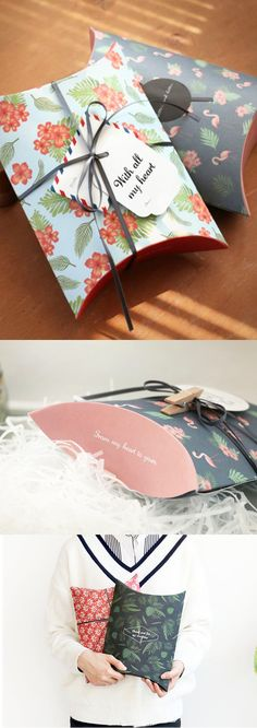 Soo cute~!! These super adorable patterned gift boxes will make gift wrapping a breeze~~