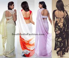 Simple Sarees and Stylish Blouses