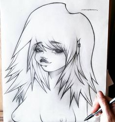 My most favorite thing I've ever drawn, after a fantastic morning of art I'm ready to head into town! #art #myart #creativemending #drawing #sketch #sketchbook #amazing #fun #love #proud #beautiful #babygirl #baby #girl #face #pencil #concept #oc #original #city #nipple #breasts #women #tits #hair #mystyle #style #nude