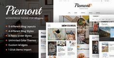 Блоговый Премиум Шаблон WordPress – Piemont