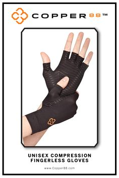 These Fingerless Glove are the only product in the world to have 88% copper embedded in it's fabric composition. The compression supports your muscles and joints aiding in faster recovery time.Comfortably worn during exercise, rest and in the shower.Super-fast wicking keeps garments dry Antibacterial and anti-odour properties will keep you feeling and smelling fresh. Copper88™ fabric attributes are inherent in all our garments and will last for as long as you own our products