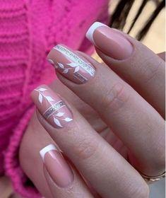 French Nail Art, French Nail Designs, Nail Designs Spring, Beautiful Nail Designs, Acrylic Nail Designs, Nail Art Designs, Shellac Nails, Pink Nails, Summer Gel Nails