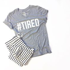 See this Instagram photo by @mindymaesmarket • 2,073 likes  //  tired, graphic tee, stripe loungers, stripe pants, comfs, joggers, flatlay