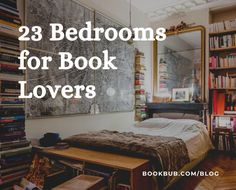 23 bedrooms for book lovers to use as inspiration in decorating their own space. #books #bookish #bedroom Library Inspiration, Space Books, Getting Out Of Bed, Book Worms, Book Lovers, Bookshelves, Bedrooms, Decorating Ideas, Furniture