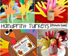 So many Ways to Create Handprint Turkey Crafts!