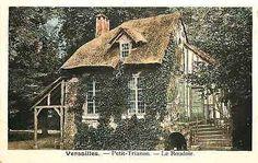 Versailles Seine et Oise France 1920s Petit Trianon Boudoir Vintage Postcard