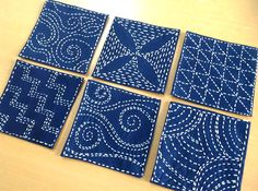 Sashiko sqaures.           Gloucestershire Resource Centre http://www.grcltd.org/home-resource-centre/