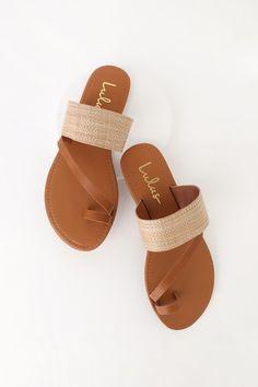Women Summer Shoes Sandals Flip Flops White Heeled Sandals Bridesmaid Sandals Slip On Business Casual Shoes Toe Loop Sandals, Tan Sandals, Cute Sandals, Cute Shoes, Flip Flop Sandals, Slide Sandals, Sandal Heels, Boho Sandals, Cute Flats